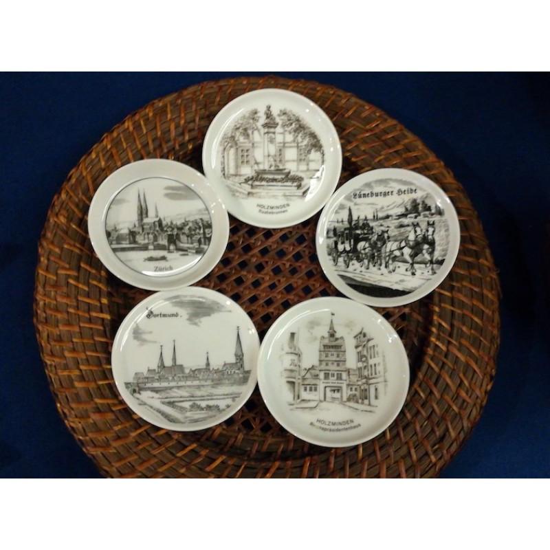 декоративни керамични чиниики с графични изображения,Германия